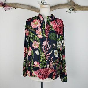 H&M botanical graphic floral popover